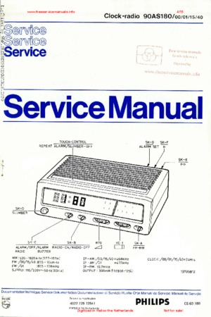 Philips 90AS180 Free service manual pdf Download