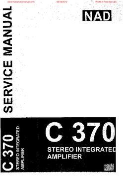 nad c370 free service manual pdf download rh freeservicemanuals info nad c370 repair manual nad c 370 review what hi fi