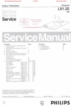 Philips 21PT4438 L01 2E Free service manual pdf Download