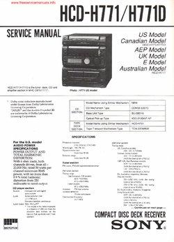 инструкция Sony Hcd-h771 - фото 7