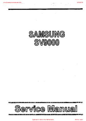 Samsung SV9000 Free service manual pdf Download