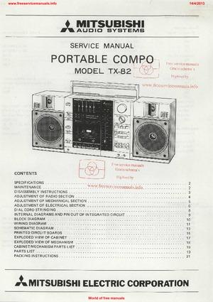 tx sr805 manuel de réparation