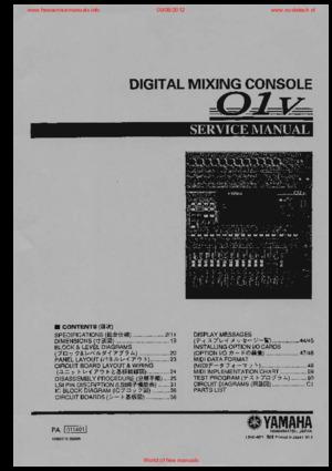 yamaha 01v free service manual pdf download rh freeservicemanuals info yamaha 01v service manual pdf yamaha 01v96 owners manual