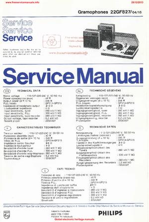 Philips 22GF827 Free service manual pdf Download