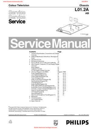 philips 21pt2325 69 l01 2a ab free service manual pdf download rh freeservicemanuals info television service manual pdf samsung television service manual
