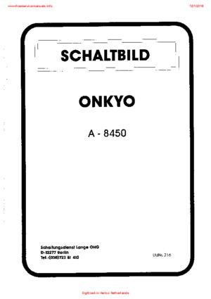 Onkyo A-8450 Free service manual pdf Download