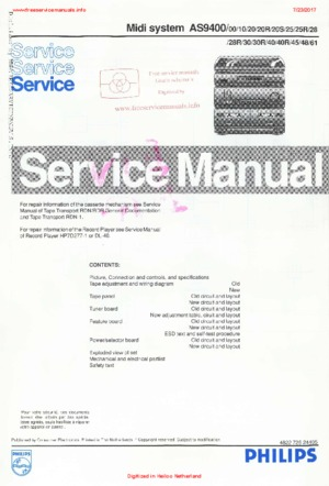 Philips AS9400 Free service manual pdf Download
