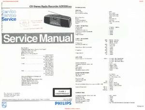 Philips AZ8320 Free service manual pdf Download