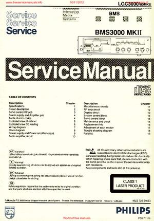 Philips BMS3000-MK2 Free service manual pdf Download