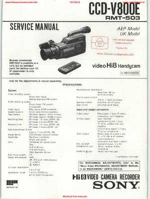 Ccd v800e service Manual