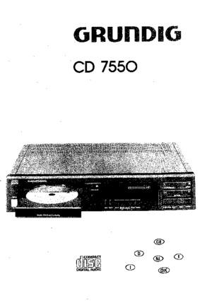 Grundig CD 7550 Free service manual pdf Download