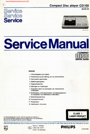 philips cd100 free service manual pdf download rh freeservicemanuals info Philips GoGear User Manual philips cd 100 service manual