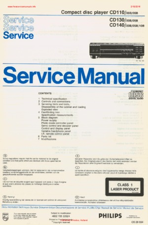 philips cd110 cd140 cd130 free service manual pdf download rh freeservicemanuals info manual telefone philips cd1401b/57 manual telefono philips cd140