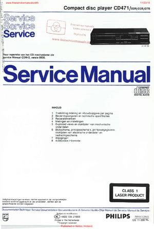 Philips CD471 Free service manual pdf Download