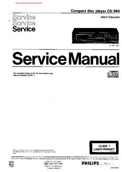 philips cd 960 service manual open source user manual u2022 rh dramatic varieties com philips cd 130 cd player service manual Walmart's Personal CD Players