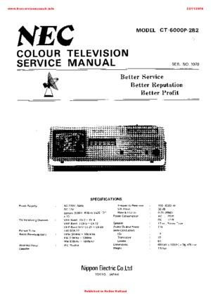NEC CT-6000P-2B2 Free service manual pdf Download