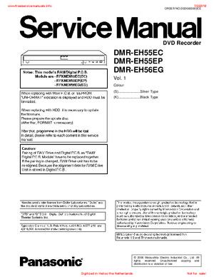 Panasonic DMR-EH55EC DMR-EH55EP DMR-EH55EG Free service