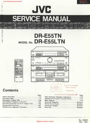 JVC DR-E55TN DR-E55LTN Free service manual pdf Download