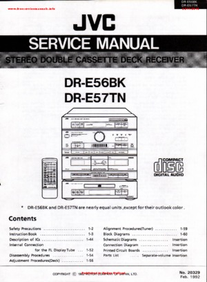 JVC DR-E56BK DR-E57TN Free service manual pdf Download