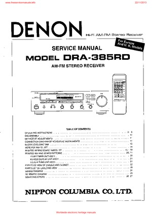 denon DRA-385RD Free service manual pdf Download