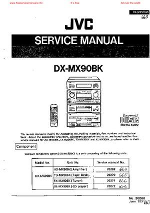 JVC DX-MX90BK Free service manual pdf Download