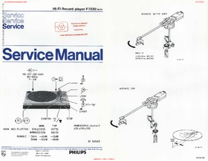 Philips F7233 Free service manual pdf Download