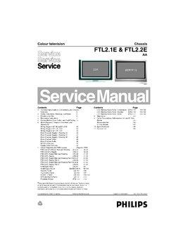 Philips 32PF9986/12 FTL2 1E Free service manual pdf Download