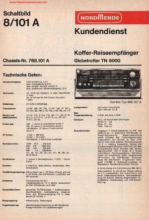 Nordmende GLOBETROTTER TN6000 Free service manual Free