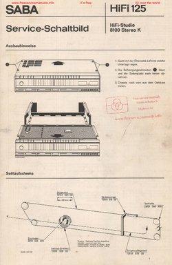SABA HIFI-STUDIO 8100 STEREO K Free service manual pdf Download