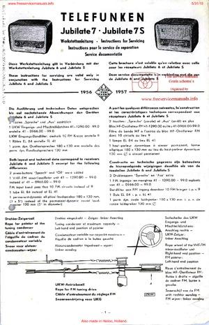 Telefunken JUBILATE 7S JUBILATE 7 Free service manual pdf Download