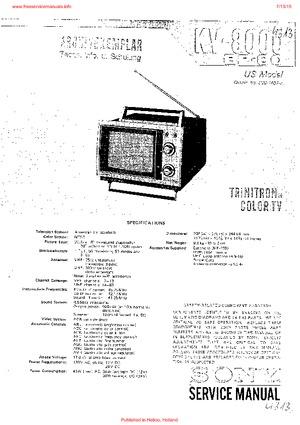 Sony KV-8000 KV-8100 Free service manual pdf Download