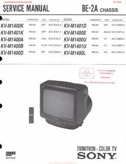 sony kv m1400k kv m1400d kv 1401d kv m1400e free service manual pdf rh freeservicemanuals info sony trinitron kv-19ts20 manual sony trinitron kv 21 manual