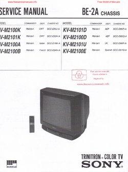 sony kv m2100k kv m2101k kv m2100a kv m2100b free service manual pdf rh freeservicemanuals info sony trinitron manuel sony trinitron manual download