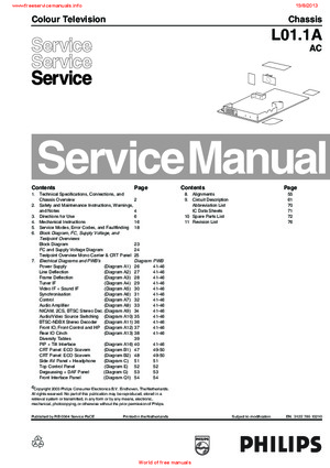 philips 25pt3323 69 l01 1a ac free service manual pdf download rh freeservicemanuals info television service manuals free download color television service manual