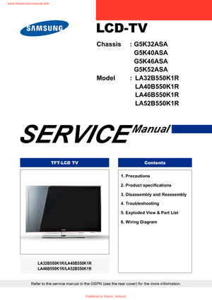 free tv service manuals download