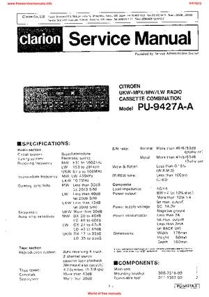Clarion Pu 2358a Manual