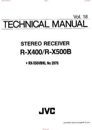 JVC R-X400 R-X500B Free service manual pdf Download