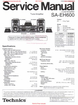 Technics sa-eh600 free service manual pdf download.