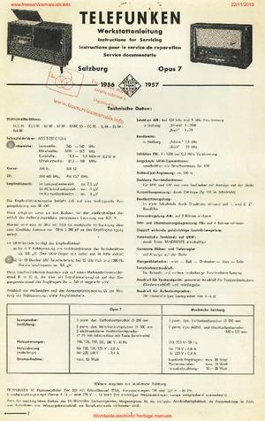 Telefunken SALZBURG OPUS 7 Free service manual pdf Download