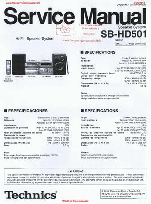 Technics Sj hd501 Pdf Manual