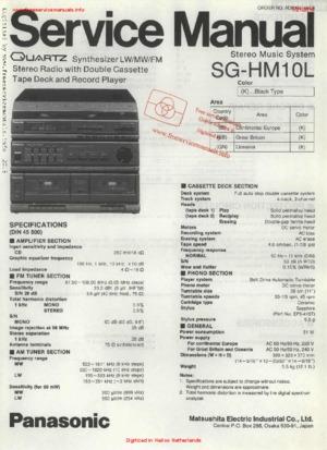 Panasonic SG-HM10L Free service manual pdf Download