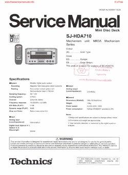 Technics SJ-HDA710 SCHEMATICS Service Manual PDF Free Download