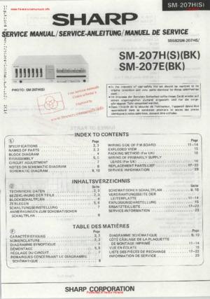SHARP SM-207H SM-207E Free service manual pdf Download