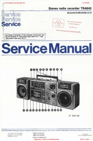 Philips TR4845 ERRES Free service manual pdf Download