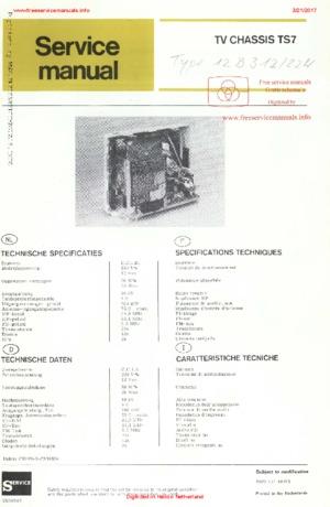 Philips 12B312 TS7 Free service manual pdf Download
