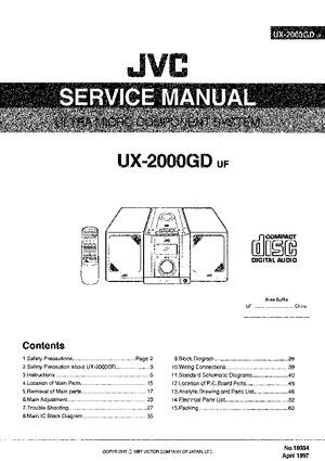 JVC UX-2000GD Free service manual pdf Download