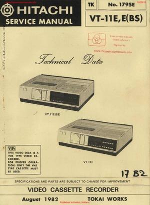 Hitachi VT-11E Free service manual pdf Download