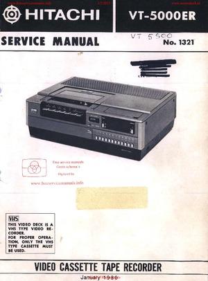 Hitachi VT-5000ER Free service manual pdf Download